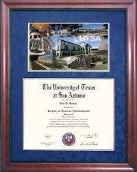 degree frames of at san antonio utsa diploma frames