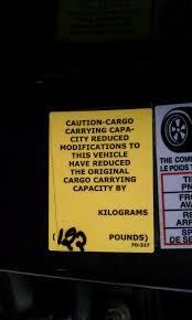 nissan frontier load capacity cargo carrying capacity sticker nissan titan forum