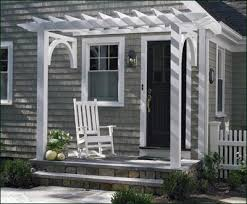 entrance pergola as shown here an attached cellular vinyl