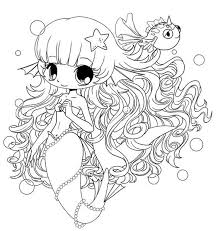 chibi coloring pages mermaid coloringstar