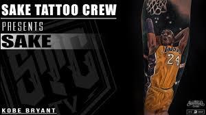 kobe bryant by sake u2022 sake tattoo crew timelapse motivational