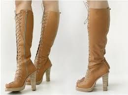 s boots with laces knee high heel boots lace up ivory search a thing