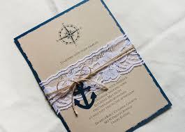 handmade invitations nautical wedding invitation sets invitations with anchors