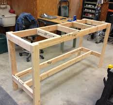 garage workbench how to make garage workbench out of palletsour