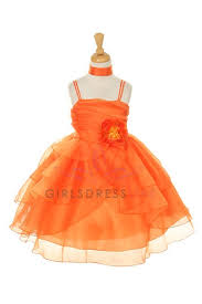 orange flower dresses