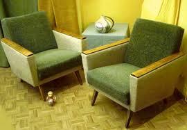 sessel 50er design beige grüne sessel der 60er