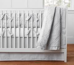 Grey And White Crib Bedding Washed Velvet Baby Bedding Sets Pottery Barn Kids