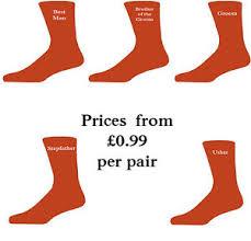 Best Man Socks Orange Luxury Cotton Rich Wedding Socks Groom Best Man Usher Ebay
