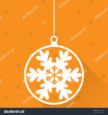 ornaments made snowflakes set stock vector