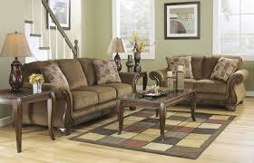 montgomery sofa u0026 loveseat set mocha ashley furniture orange