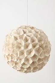 Paper Light Fixtures Rhododendron Chandelier Anthropologie
