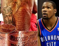 kevin durant tattoo close up pictures to pin on pinterest tattooskid