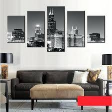 Home Decor Chicago Wall Ideas Chicago Skyline Wall Art Chicago Skyline Framed Wall