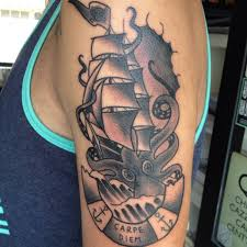 octopus sinking ship tattoo meaning sinks ideas