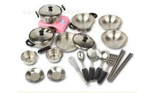 Kids Play Kitchen Accessories by 18set Stainless Steel Cooking Tools For Children Kids Play