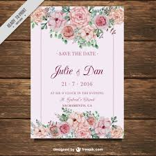 marriage card wedding card with flowers on a pink background vector free
