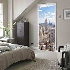 online get cheap york wall aliexpress com alibaba group diy 3d manhattan new york wall stickers diy mural bedroom home decor poster pvc waterproof door