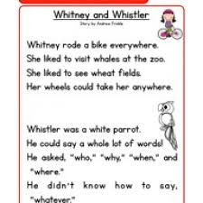 phonics words stories wh reading comprehension worksheet