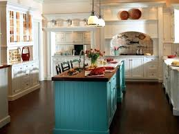 kitchens with different colored islands turquoise kitchen walls petrun co