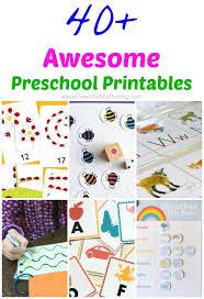 40 awesome preschool printables