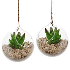 amazon com set of 2 decorative clear glass globe hanging air