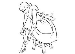 cinderella slipper coloring image results 470119