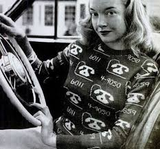 an adorable novelty sweater from the 1940s photo by leen