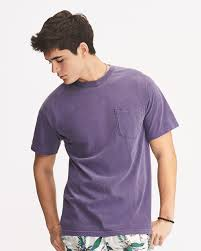 Comfort Colors Washed Denim 6030 Comfort Colors Heavyweight Pocket T Shirt South By Sea