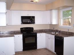 tag for kitchen wall colors with white cabinets and black