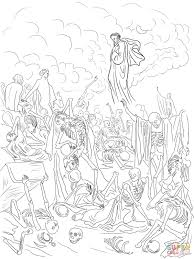 ezekiel u0027s vision of the valley of dry bones coloring page free