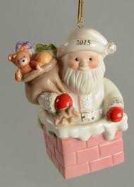 lenox annual santa ornament at replacements ltd