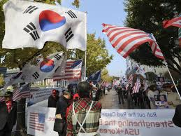 Seoul Flag With Asia Trip Trump Hopes To Shift Focus From Russia To North