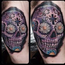 sugar skull tattoo design for men