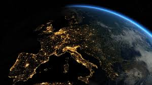Sunrise Sunset Map Zoom To Europe The European States From Space Clip Contains