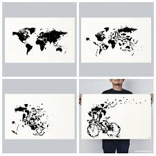 World Map Silhouette Turning A World Map Into A Clever Print Of Cyclist Silhouette