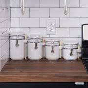 walmart kitchen canister sets anchor hocking ceramic 4 kitchen canister set white