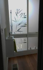 frosted bathroom film bamboo design frosted windows and doors