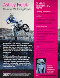 Ashley Fiolek Mx Clinic For Girls Transworld Motocross