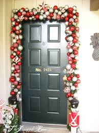 Christmas Decoration For Home by Christmas Front Door Decorating Home Decorating Interior Design