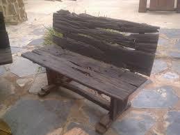 Wooden Bench Seat For Sale Bench Railway Sleeper Bench Frangie Railway Sleeper Furniture