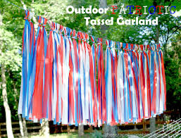 Fourth Of July Tablecloths by Outdoor Patriotic Tassel Garland The Scrap Shoppe