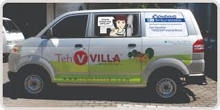 Teh Villa branding mobil pt sentra tama mandiri advertising outdoor