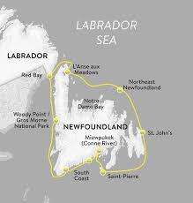 Newfoundland Map Newfoundland Circumnavigation Eco Tours And Holidays Eagle Eye