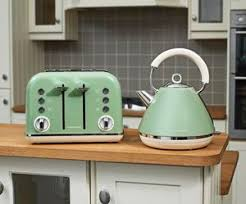 Green Kettles And Toasters Morphy Richards Sage Green Kettle U0026 4 Slice Toaster New Retro