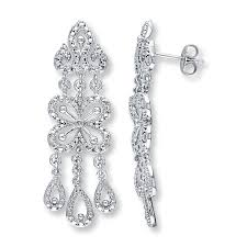 Chandelier Earrings Earrings Kay Chandelier Earrings Diamond Accents Sterling Silver