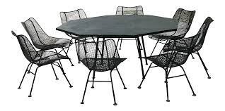 Woodard Wrought Iron Patio Furniture by Mid Century Modern Russell Woodard