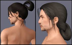 hair styles of ancient japan formen mod the sims two historical asian inspired long tied hair