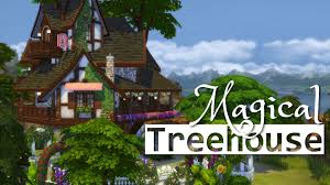 the sims 4 house building magical treehouse youtube