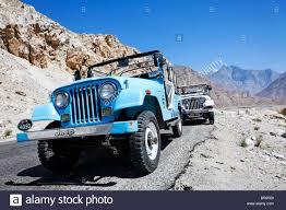 jeep pakistan jeeps on the karakorum highway gilgit baltistan pakistan stock