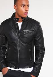 biker jacket men goosecraft men jackets biker leather jacket black goosecraft